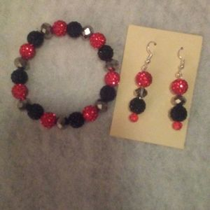 Matching bracelet and earring set.  Hand crafted j